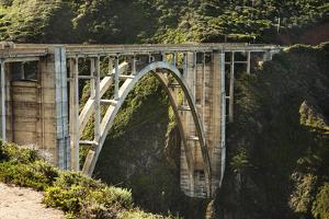 The Bixby Creek Bridge on Rt 1, on the Big Sur Coast by Keith Barraclough