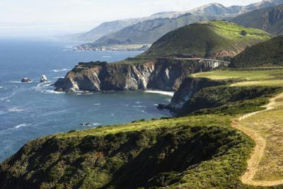 The Bixby Creek Bridge the Scenic Big Sur Pacific Ocean Coast by Keith Barraclough