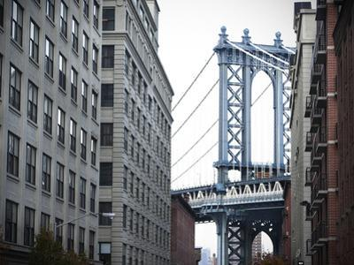 The Manhattan Bridge from Washington Street in Dumbo, Brooklyn by Keith Barraclough