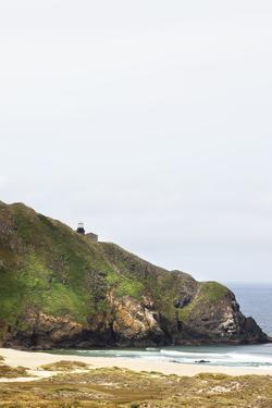 The Point Sur Lightstation on a Large Cliff on the Big Sur Coast by Keith Barraclough