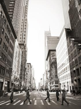 View of Fifth Avenue Looking South with Pedestrians Crossing by Keith Barraclough