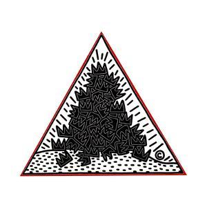 A Pile of Crowns for Jean-Michel Basquiat, 1988 by Keith Haring