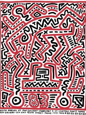 Fun Gallery Exhibition, 1983 by Keith Haring