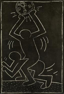 Haring - Subway Drawing Untitled - 12 by Keith Haring