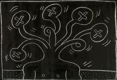 Haring - Subway Drawing Untitled - 27 by Keith Haring