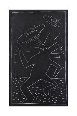 Haring - Subway Drawing by Keith Haring