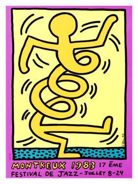 Montreux Jazz Festival, 1983 by Keith Haring