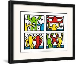 Pop Shop Quad I, c.1987 by Keith Haring