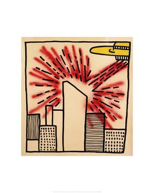 Spaceship with Ray, 1980 by Keith Haring