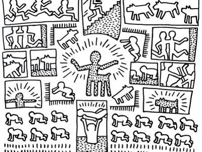 The Blueprint Drawings, 1990 by Keith Haring