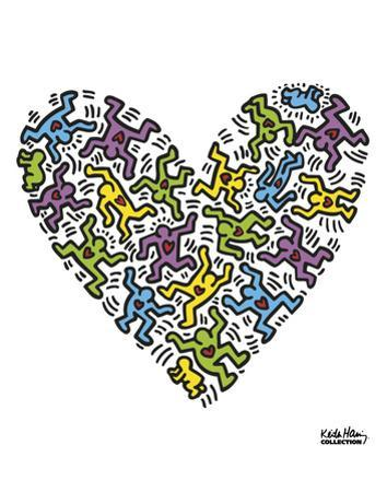 Untitled, 1985 (heart) by Keith Haring