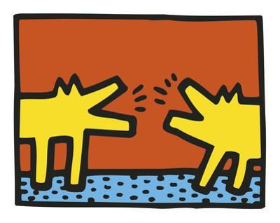 Untitled, 1989 (dogs) by Keith Haring