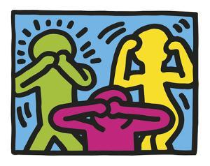 Untitled, 1989 (no evil) by Keith Haring