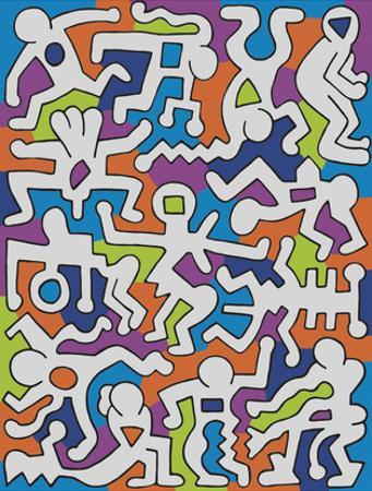 Untitled (Palladium Backdrop), 1985 by Keith Haring