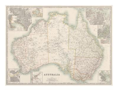 Australia Map 1880