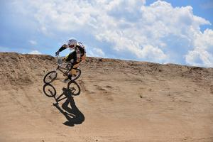 A Rider Competes in a Bmx Race by Keith Ladzinski
