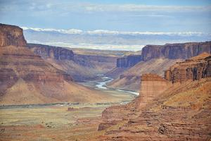 A Scenic View of Castle Valley from the Fisher Towers, the Colorado River Is in the Distance by Keith Ladzinski