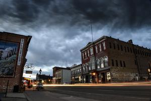 A Scenic View of Downtown Historic Leadville, Colorado, with Brooding Dark Storm Clouds by Keith Ladzinski