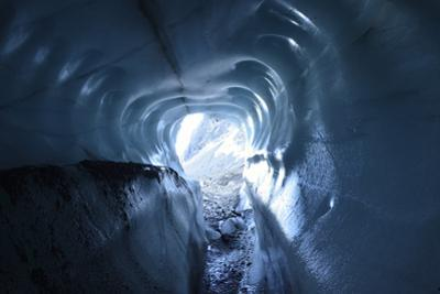 A Tunnel of Melt-Sculpted Blue Glacier Ice