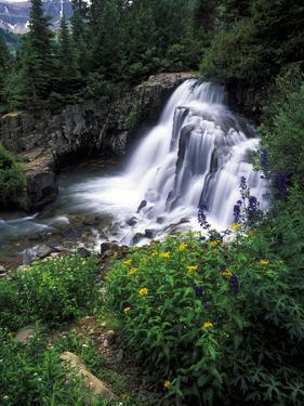 A View of Twin Falls in Yankee Boy Basin, San Juan Mountains, Colorado by Keith Ladzinski
