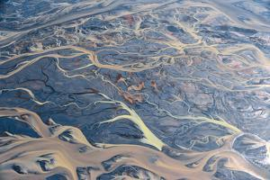An Aerial of Streams of Glacier Runoff, known as Lahar, in of Southern Iceland by Keith Ladzinski