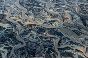 An Aerial View of Streams of Glacier Runoff, known as Lahar, in of Southern Iceland by Keith Ladzinski