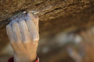 Close Up of a Rock Climber's Hand Grabbing a Small Hold, Cederberg Wilderness Area by Keith Ladzinski