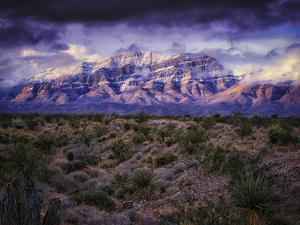 Desert View with Mountains Near Mesquite, Nevada by Keith Ladzinski