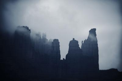 Fisher Towers in Fog, Utah by Keith Ladzinski