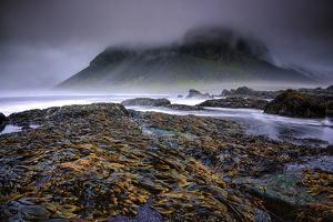 Fog over the Coastline of Stokeness Beach in Hofn, Iceland by Keith Ladzinski