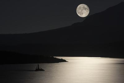 Full Moon over Saint Mary's Lake in Montana's Glacier National Park by Keith Ladzinski