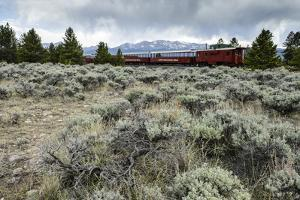 Leadville Colorado and Southern Railroad Train by Keith Ladzinski