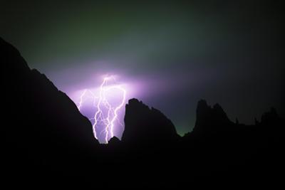 Lightning Strike in Garden of the Gods, Colorado by Keith Ladzinski