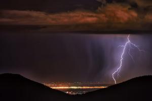 Lightning Strikes over Longmont, Colorado by Keith Ladzinski