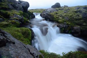 Long Exposure of a Waterfall in Iceland by Keith Ladzinski
