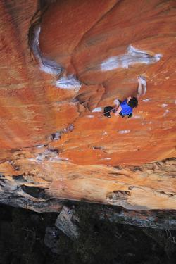 Looking Down Upon a Rock Climber in Grampians National Park, Australia by Keith Ladzinski