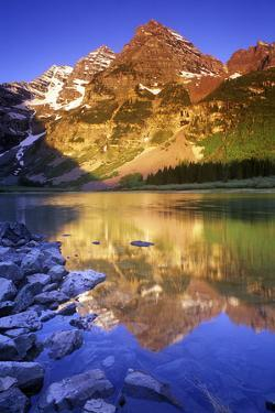 Maroon Bells and Crater Lake, White River National Forest, Colorado by Keith Ladzinski
