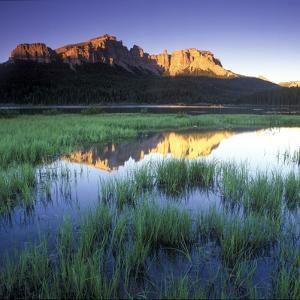Mountain Reflection in Brooks Lake, Wyoming by Keith Ladzinski