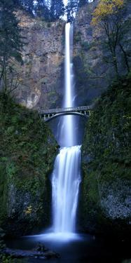 Multnomah Falls with Bridge, Oregon by Keith Ladzinski