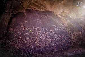 Petroglyphs on Newspaper Rock in Utah by Keith Ladzinski