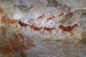 Rock Art on a Rock Wall in the Cederberg Wilderness Area, South Africa by Keith Ladzinski