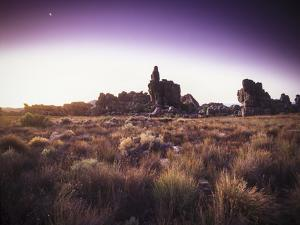 Sunset and Moonrise over Cederberg Wilderness Area, South Africa by Keith Ladzinski
