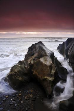 Sunset at Ruby Beach with Sea-Carved Rock, Olympic National Park, Washington by Keith Ladzinski