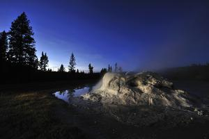 The Midway Geyser Basin at Night, under the Big Dipper, Yellowstone National Park, Wyoming by Keith Ladzinski