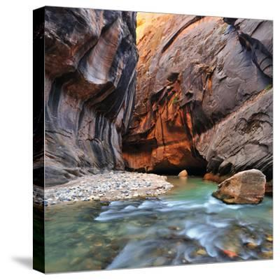 The Virgin River Rushing Through the Narrows in Zion National Park by Keith Ladzinski