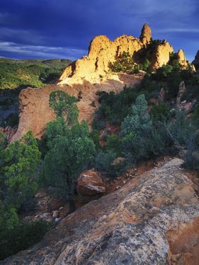 View of Keyhole Rock, Garden of the Gods, Colorado by Keith Ladzinski