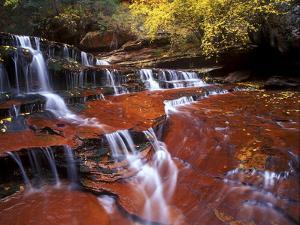 Waterfall at Zion National Park, Utah by Keith Ladzinski