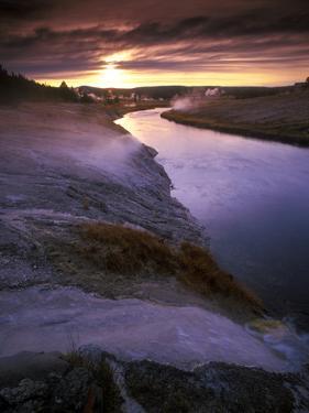 Yellowstone National Park at Twilight, Wyoming by Keith Ladzinski