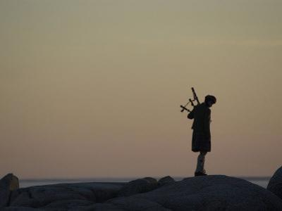 Bagpipe Player, Nova Scotia, Canada by Keith Levit
