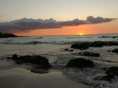 Big Island of Hawaii - Sunset from Beach by Keith Levit